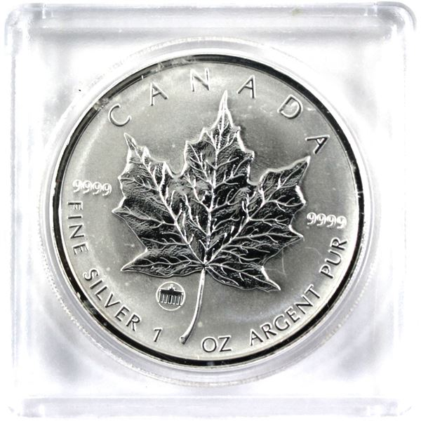 2009 20th Anniversary of the Berlin Wall $5 Privy Mark 1oz Silver Maple Leaf Coin (Tax Exempt)