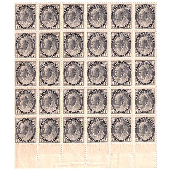 #74 1898 Queen Victoria 1/2 cent  Mint No Hinge stamps. 30pcs