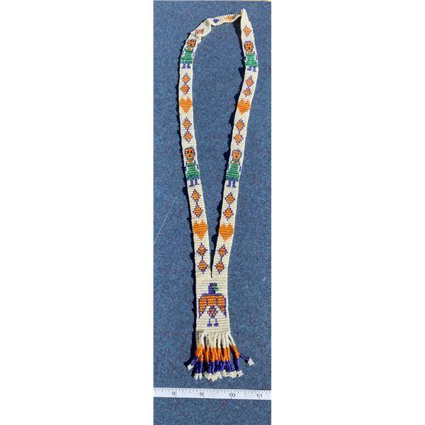 Native American Beaded Thunder Bird Necklace