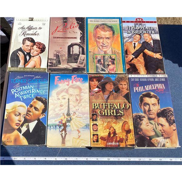 "(8)VHS Movies ""Buffalo Girls"" + ""Funny Face"" + ETC"