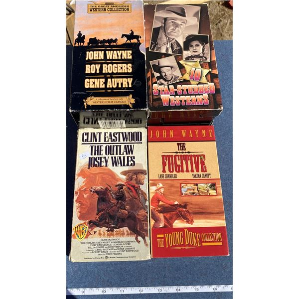 (4) VHS Western Movies