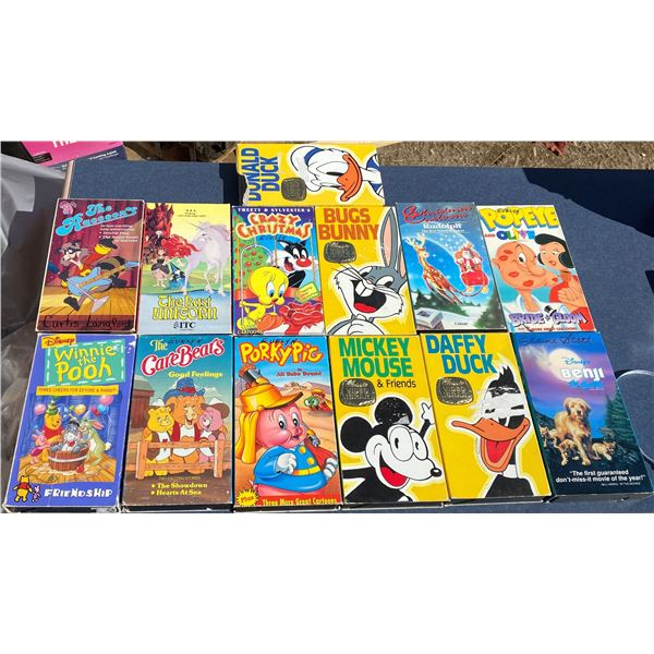 (13) Donald Duck VHS Movies