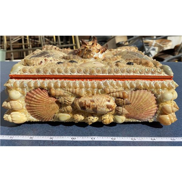 Sea Shell Trinket Box With Contents Inside