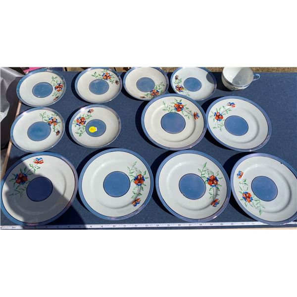 Lot Of Luster Ware (6 Plates, 6 Small Plates, 1 Cup)