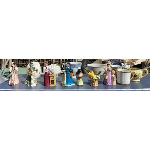 Assorted Cups + Figurines + Etc