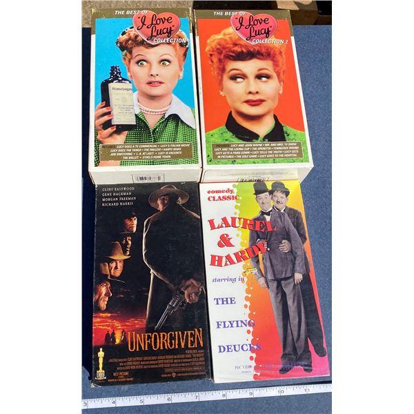 4 VHS Movies