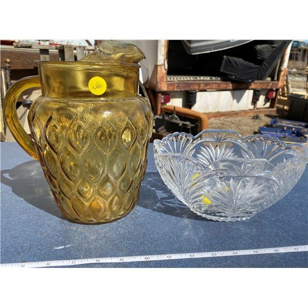 Glass Bowl + Pitcher