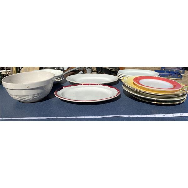 Lot Of Assorted Plates + Dishes
