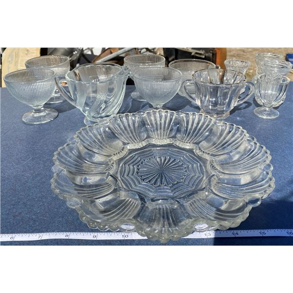Lot Of Glass Cups + Dishes