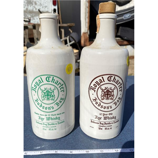 2 Hudson Bay Whiskey Bottles