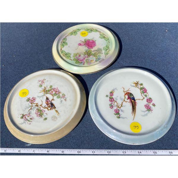 3 Vintage Tea Cup Trivets