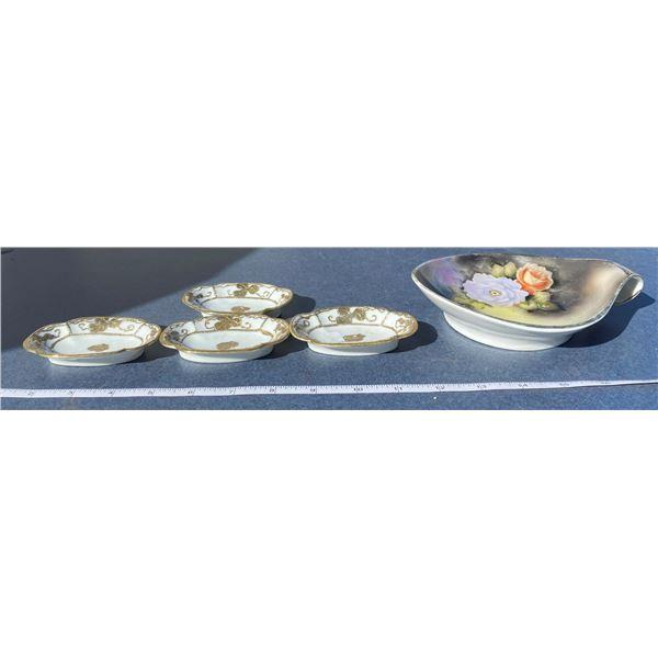 4 Nippon Dishes + Noritake Dish