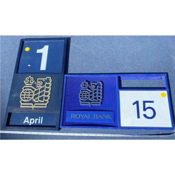2 Original Royal Bank Calendars