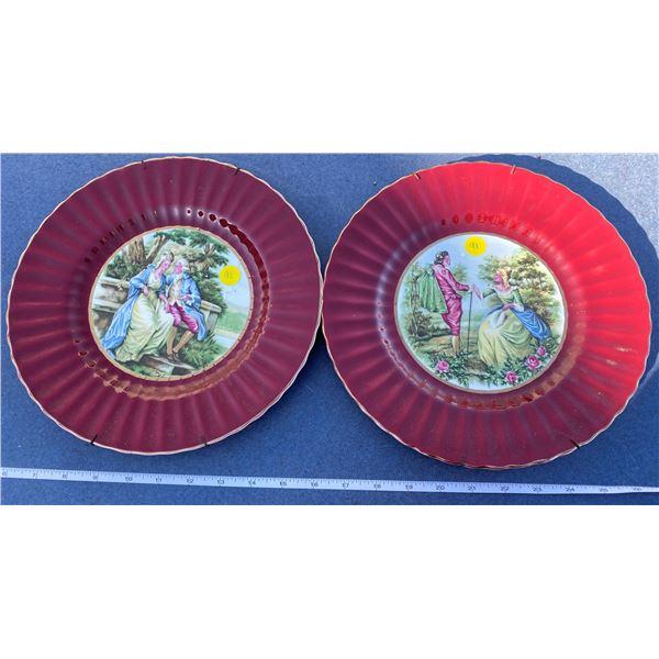 "2 Wade Anglen Decorator Plates  (10.5"")"