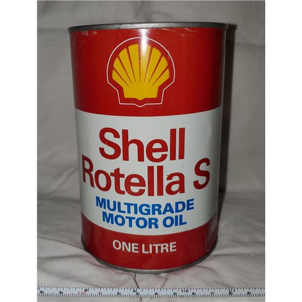 SHELL ROTELLA OIL CAN (FULL)