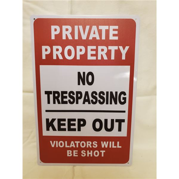 PRIVATE PROPERTY TIN SIGN