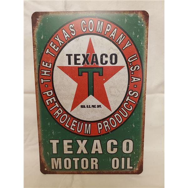 TEXACO OIL TIN SIGN