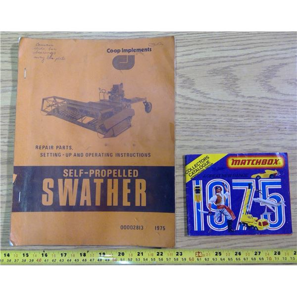 1975 Self-Propelled Swather Manual & 1975 Matchbox Catalogue