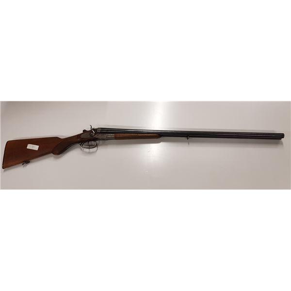 "12 G 2 3/4"" Bayard Belgian side by side shotgun with external hammers"