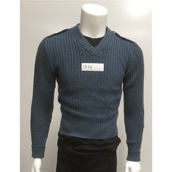 3 Pack Of Canadian Airforce Blue Sweaters, Size Med