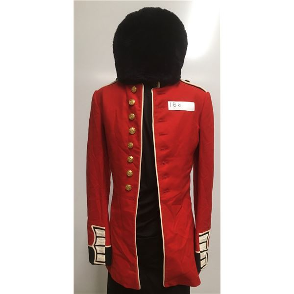 Canadian Military Parade Red Tunic & Fur Had, Size Med