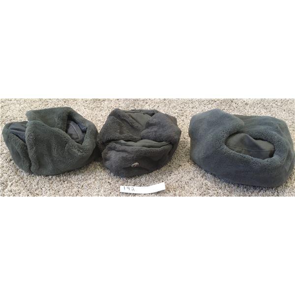 3 East German Fur Hats, 1980s