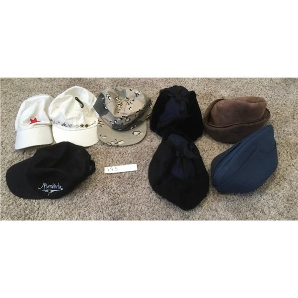 8 Assorted Mens & Woment Hats