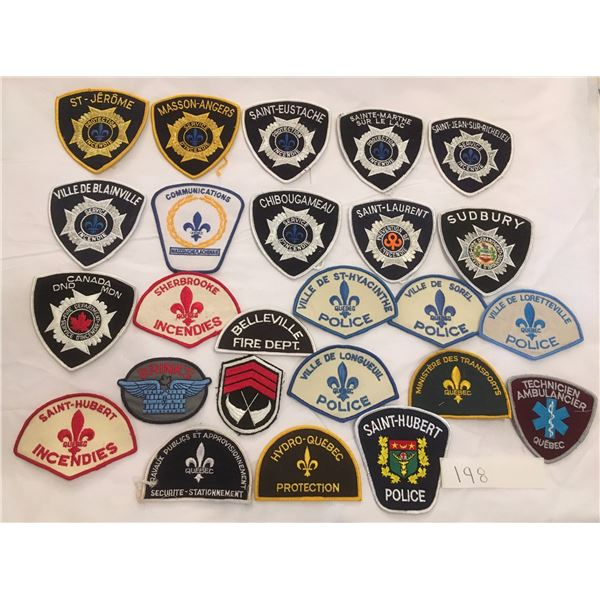 25 assorted patches
