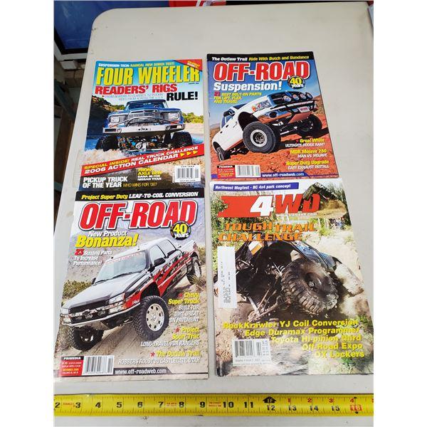 4 X OFF ROAD MAGAZINES
