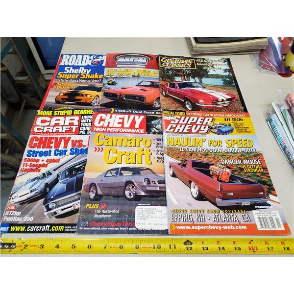 6 X CAR MAGAZINES