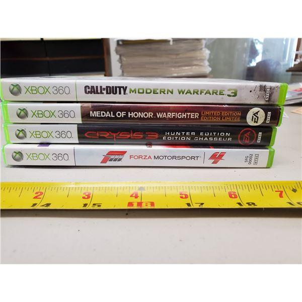 4 X XBOX 360 GAMES