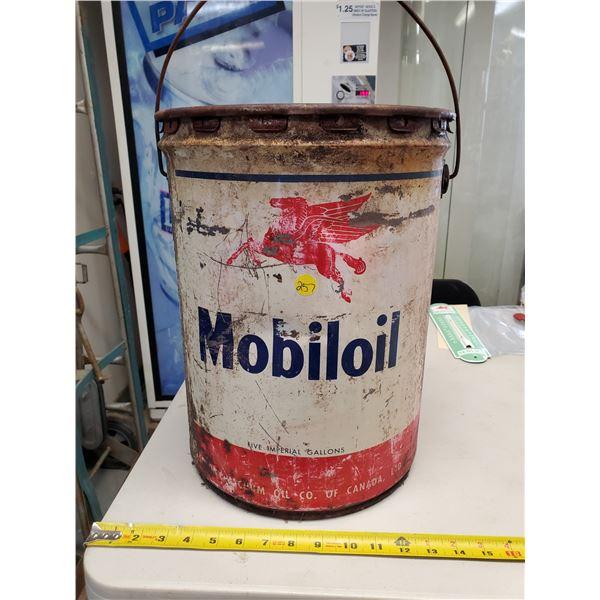 MOBILOIL 5 GALLON PAIL