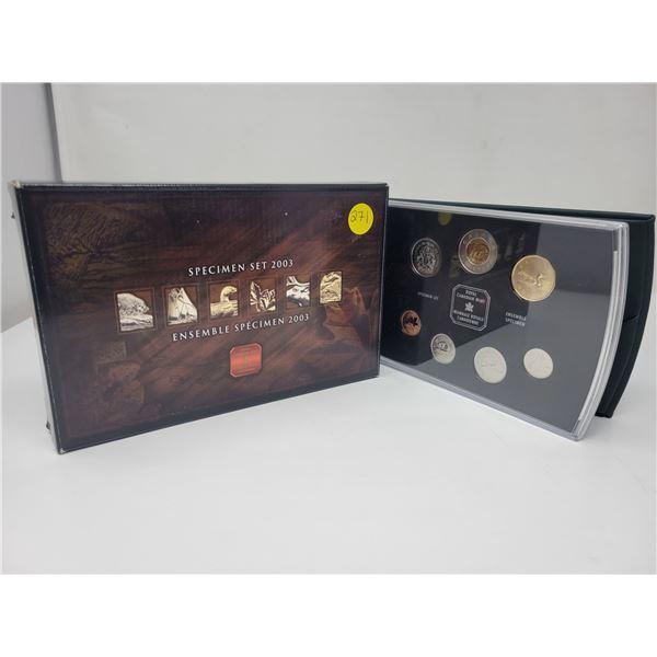 2003 Royal Canadian Mint Specimen Set, in original box