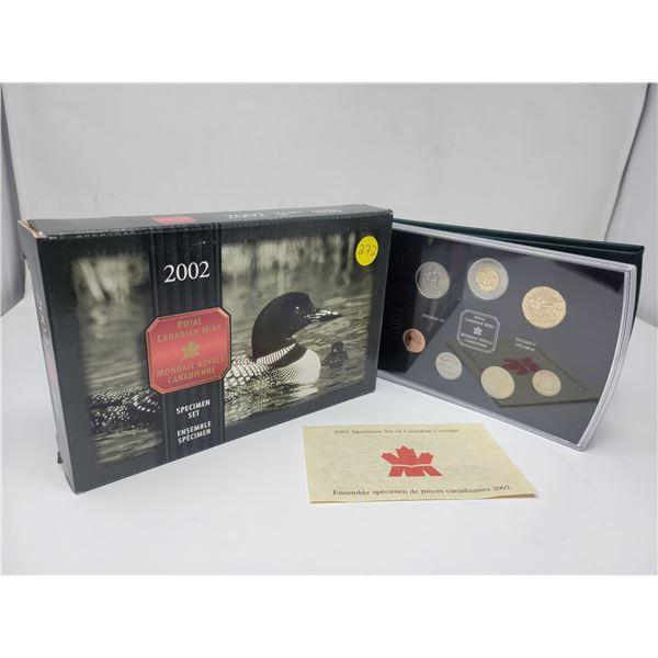 2002 Royal Canadian Mint Specimen Set, in original box