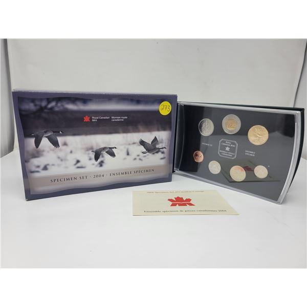 2004 Royal Canadian Mint Specimen Set, in original box