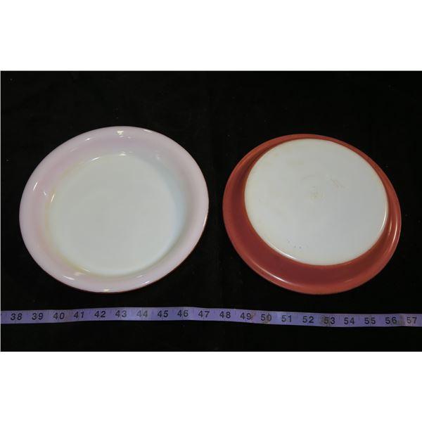 2 Vintage Pyrex Pie Plates