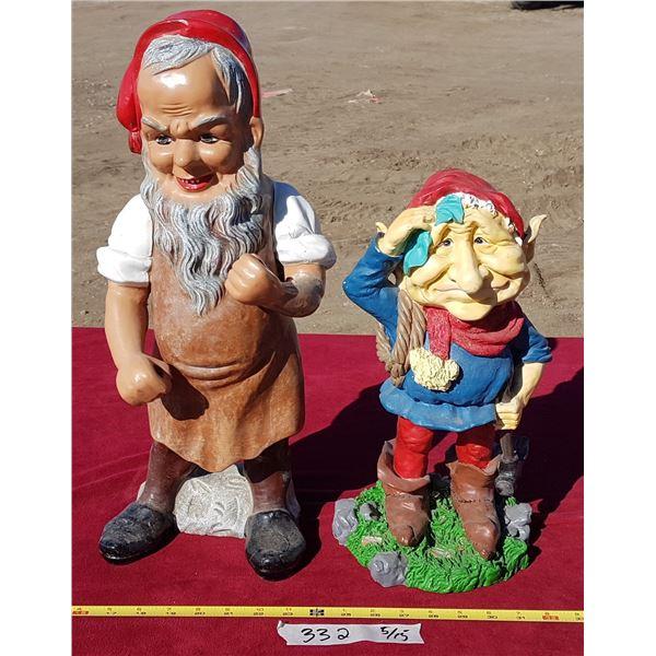 2 Garden Gnomes