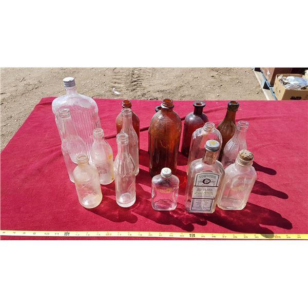 Lot Vintage Bottles
