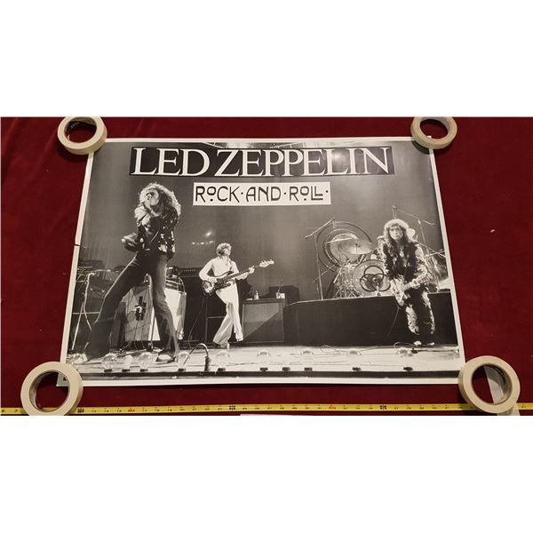 3 Rock Posters - Led Zepplin & The Who & Pink Floyd