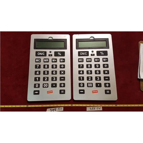 2 Large Calculators