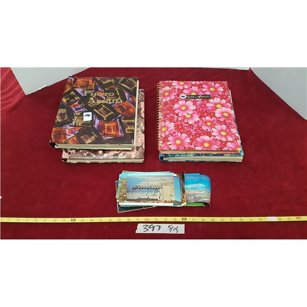 Lot Photo Albums & Post Cards