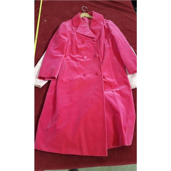 2 Vintage Pink Coats