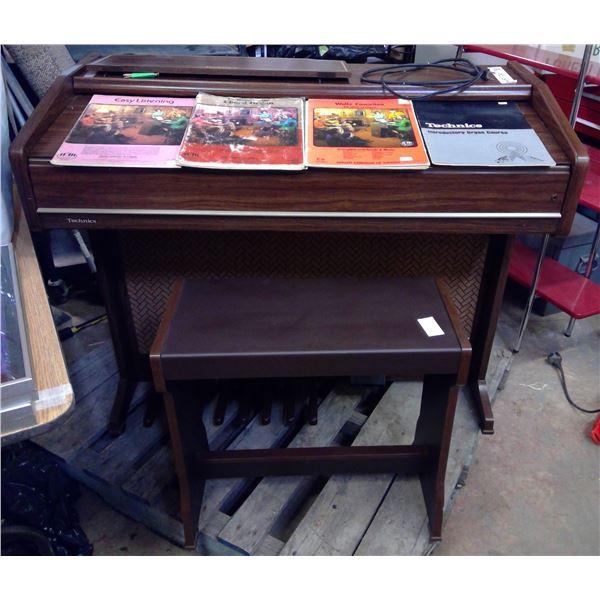 Technics Electric Organ, Bench & Books
