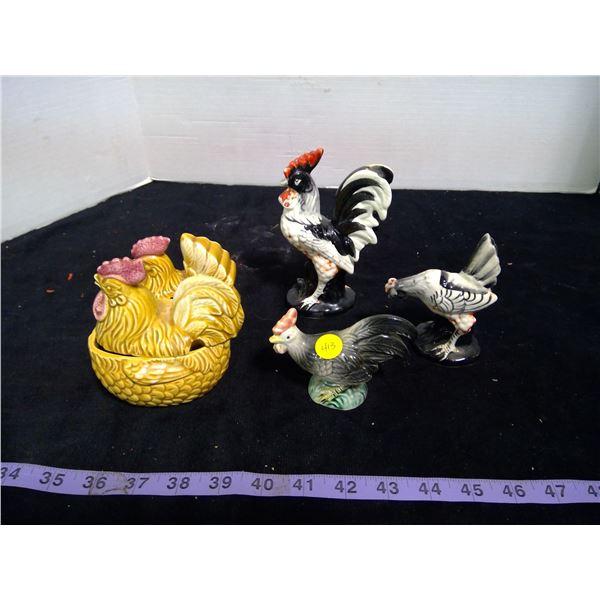 Assorted Chicken Ornamental Décor