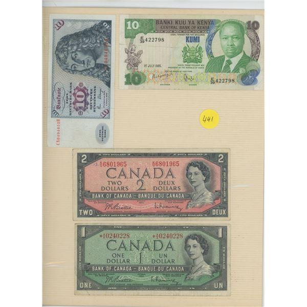 Lot Various World Bills