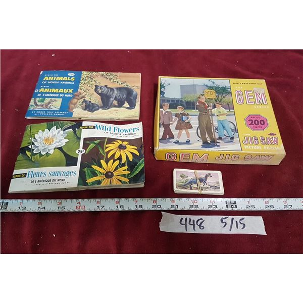 Lot Jigsaw Puzzles &  Nature Items
