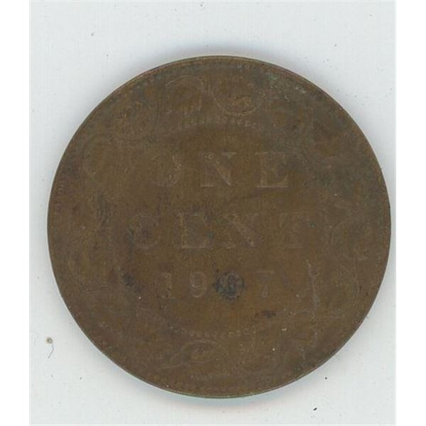 1907 Canadian One Cent Coin