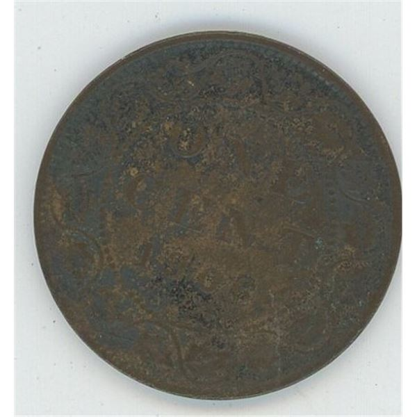 1906 Canadian One Cent Coin