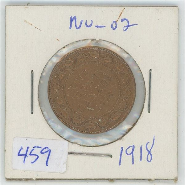 1918 Canadian One Cent Coin