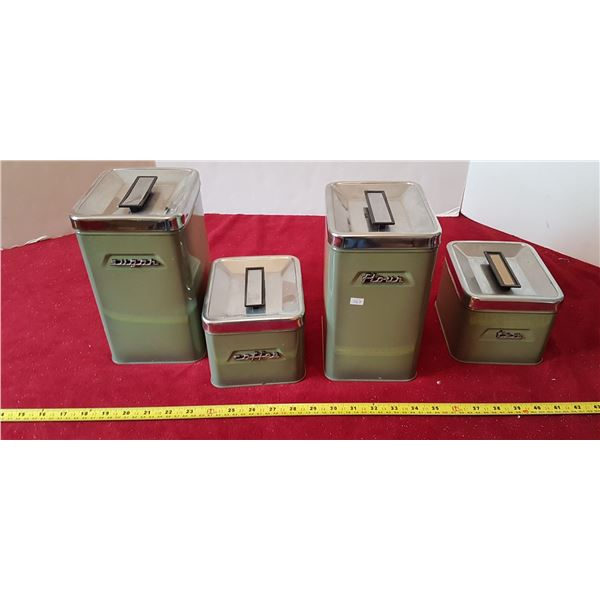 Set Of 4 Matching Vintage Canisters - Kenmore